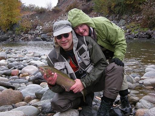 Couple catching fish