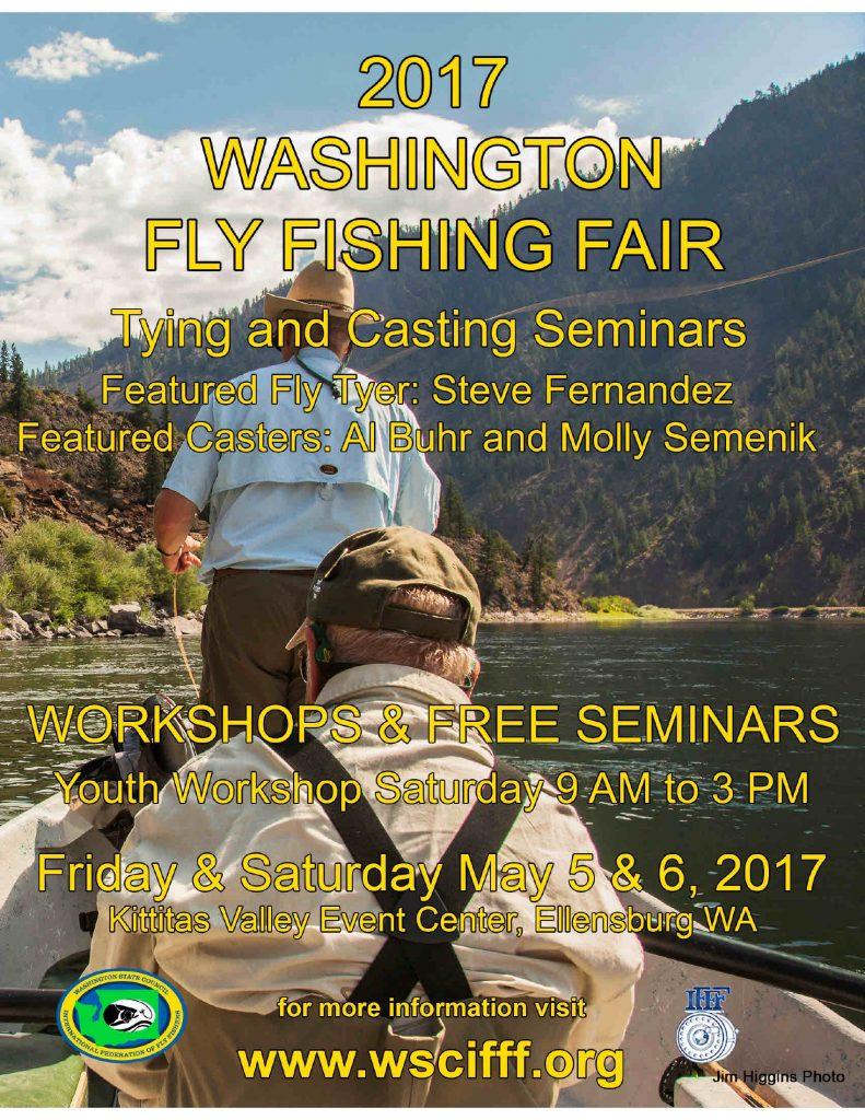May 5-6 Washington Fly Fishing Fair, Ellensbu…